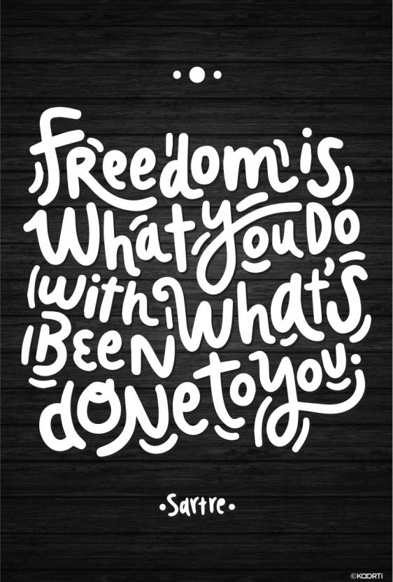Freedom is what you do - Jean-Paul Sartre Quote Mini Sticker ...