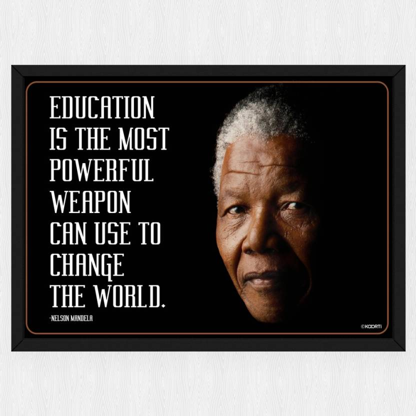 Education Is The Most Powerful Nelson Mandela Quote Mini Glass