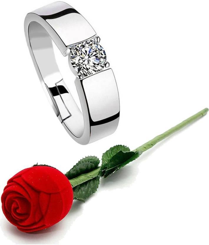 Karatcart Valentine Gift By Karatcart Platinum Plated Elegant