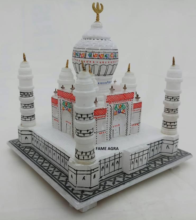 Tajmahal India Marble Taj Mahal Showpiece for Home Decoration | Marble Gifts Items TajMahal | Symbol