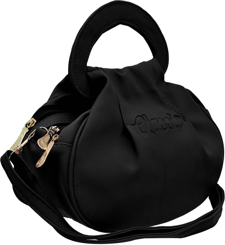 2c0e48eec9 BUY FOR CHANGE LLP Girls Casual Black PU Sling Bag Black - Price in India