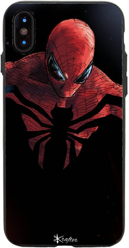 factory price e35a6 49deb Krafter Back Cover for Krafter iPhone X Mobile Cover SpiderMan ...