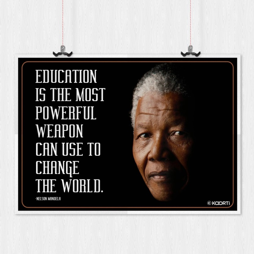 education is the most powerful nelson mandela quote mini poster