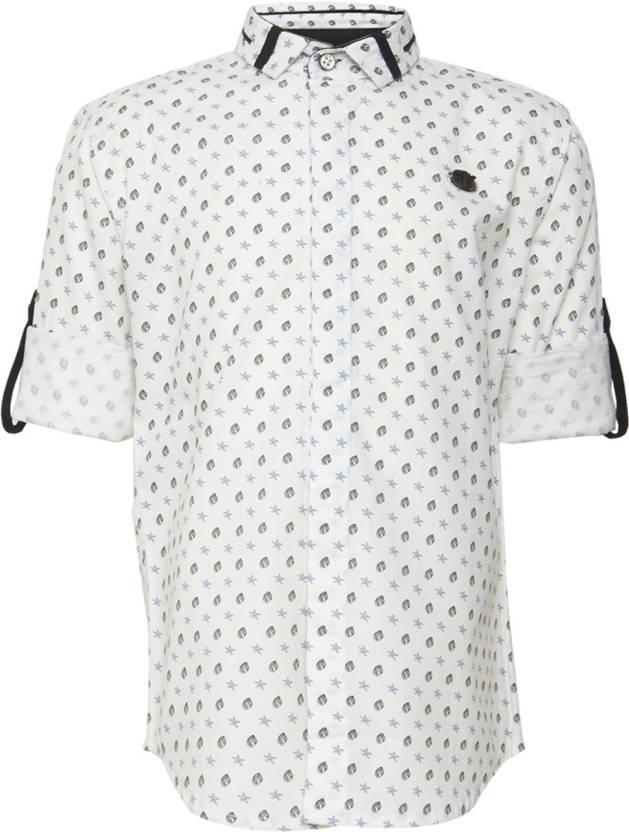 b54c47856c24 OKS BOYS Boy's Printed Casual Spread Shirt - Buy OKS BOYS Boy's ...