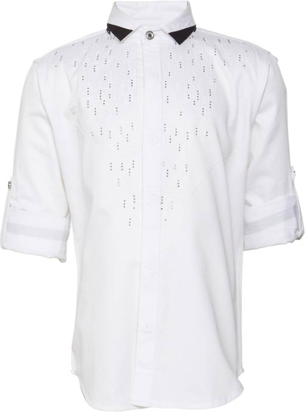 7378f28adb29 OKS BOYS Boy's Embroidered Casual Spread Shirt - Buy OKS BOYS Boy's  Embroidered Casual Spread Shirt Online at Best Prices in India |  Flipkart.com