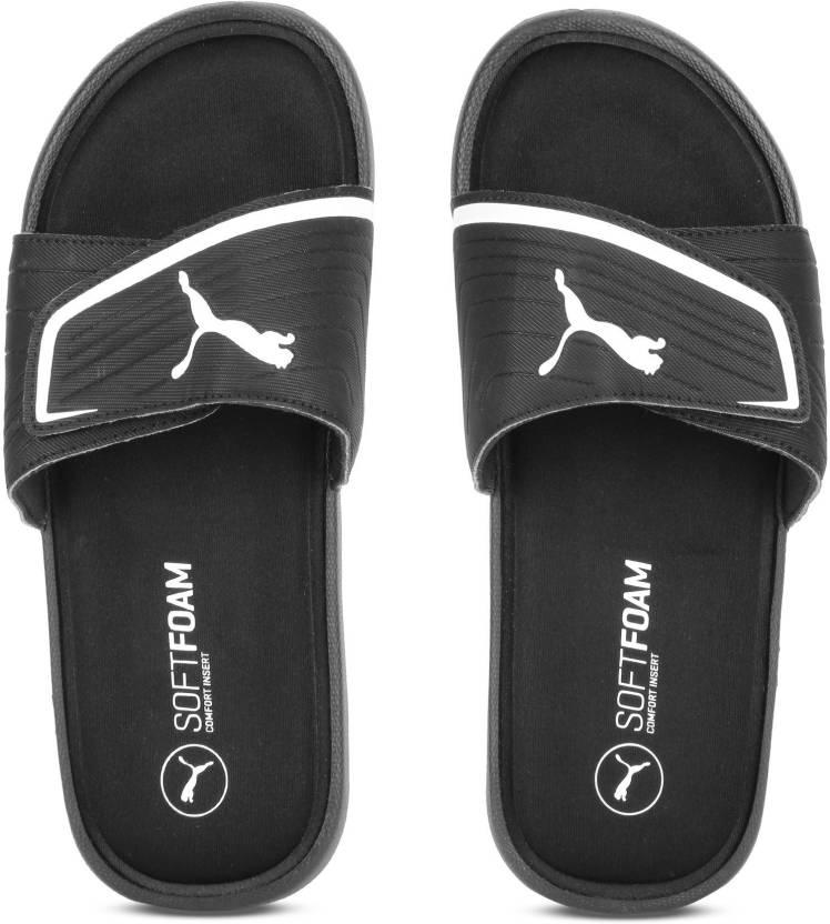 2142433ae9482 Puma Starcat Sfoam Slides - Buy Puma Black-Puma White Color Puma Starcat  Sfoam Slides Online at Best Price - Shop Online for Footwears in India