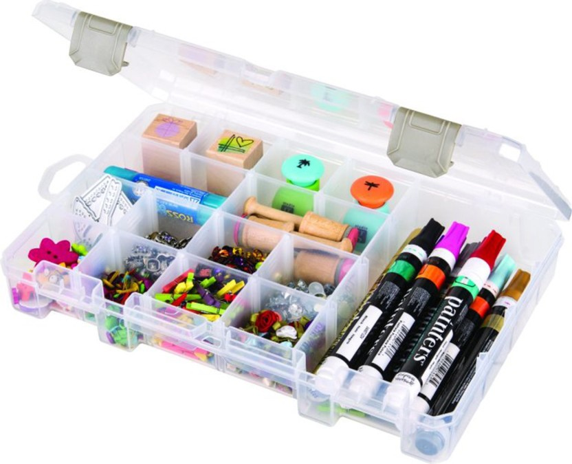 "ArtBin  Floss Finder With Dividers-10.75/""X7.375/""X1.75/"" Translucent"