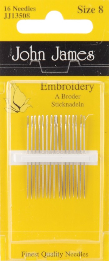 Colonial Needle Crewel//Embroidery Hand Needles-Size 8 16//Pkg