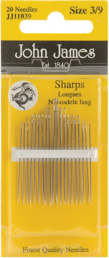 3-Pack Colonial Needle Twin Pointed Quick Stitch Tapestry Hand Needles Size 24