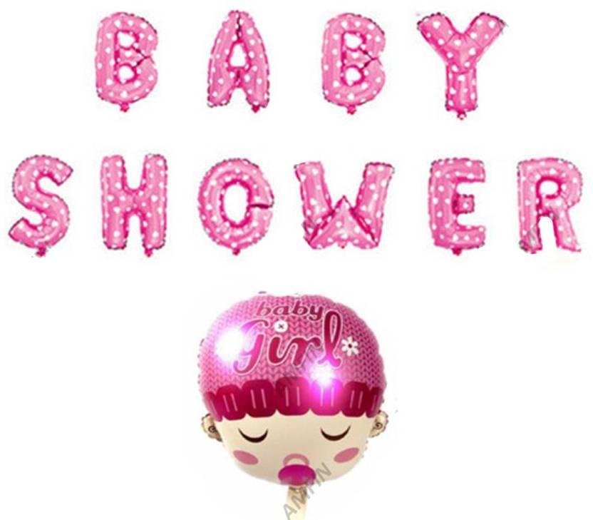 Baby Shower Letter Balloons.Flipkart Com Amfin Printed Baby Shower Letter Balloons For