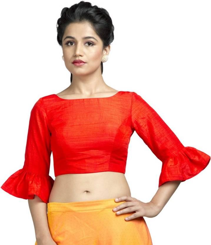 31fc73658db48c Muhenera Round Neck Women Stitched Blouse - Buy Muhenera Round Neck Women  Stitched Blouse Online at Best Prices in India | Flipkart.com