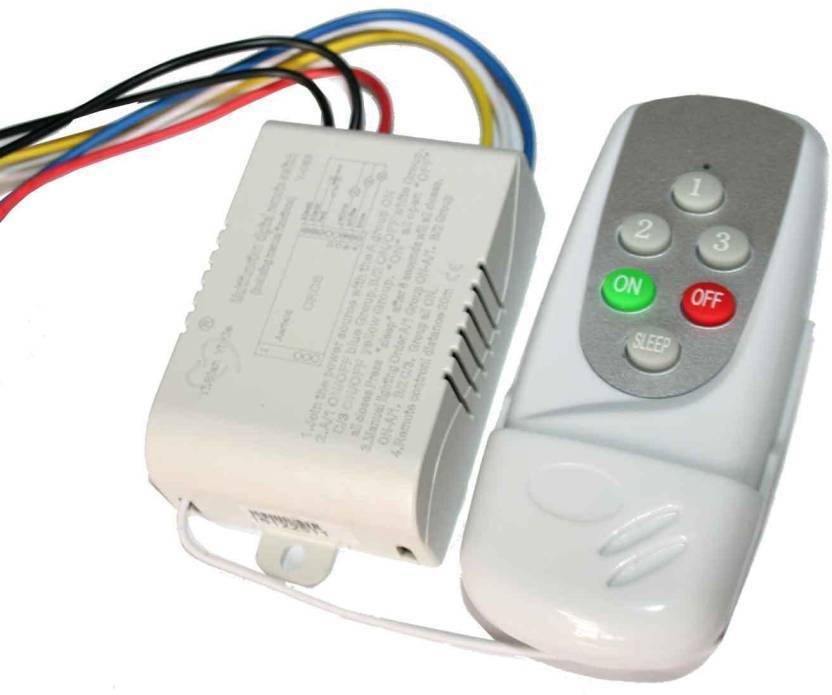 TRP TRADERS 3 Way Wireless Remote Control Switch For Fans And Light 3 Three Way Electrical Switch (Pack of 1 Number of Switches - 3)