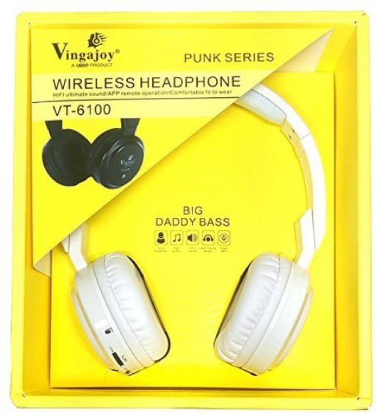 6cd6ffd2f2f Dirar Wireless headphone GVT-6100 HIFI unlimited sound/APP remote  operation/Comfortable fit to wear Bluetooth Headphone (White, Over the Ear)