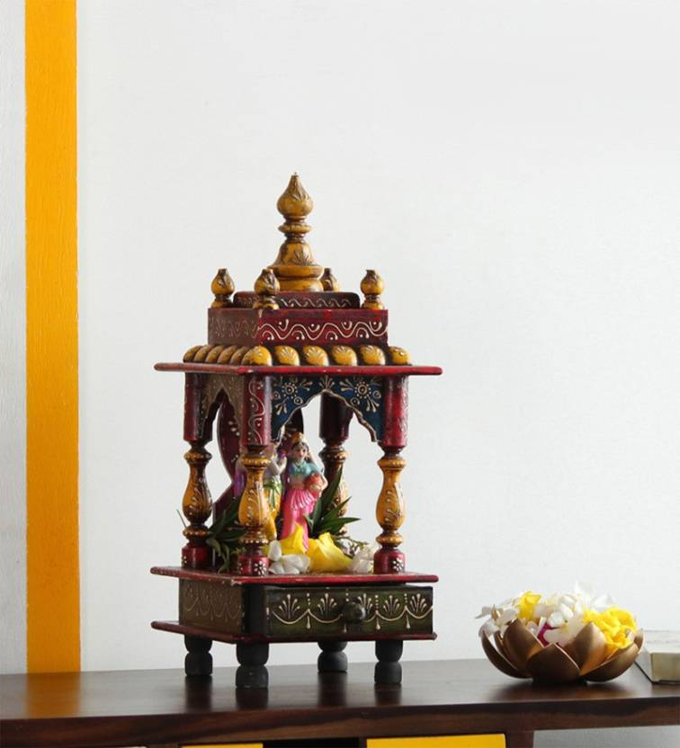 The Attic KD-130 Wooden Home Temple Price in India - Buy The Attic ...