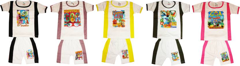 877a8b06e15f4 Kifayati Bazar Baby Boys & Baby Girls Casual T-shirt Shorts Price in ...