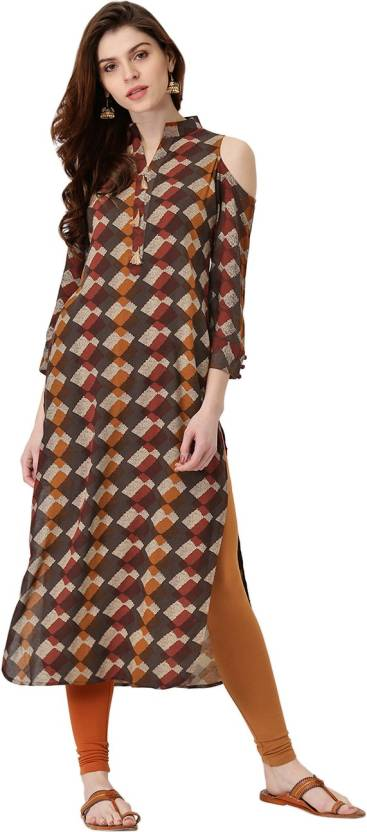 65f2cad8802 Libas Women s Abstract Pathani Kurta - Buy Multicolor Libas Women s ...