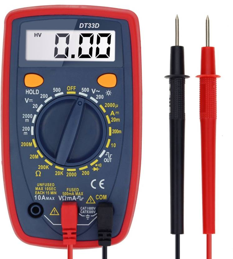 Techtest Digital Multimeter Ac Dc Current Voltage Resistance