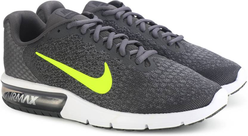 b63a14b4c9 Nike AIR MAX SEQUENT 2 Running Shoes For Men - Buy DARK GREY/VOLT ...