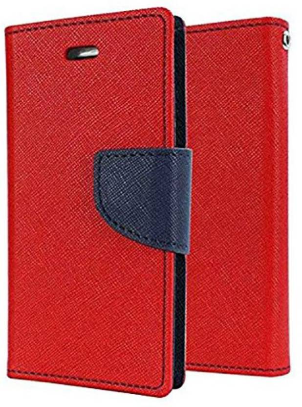Loopee Flip Cover for Samsung Galaxy A7 2016 Edition  A710  Red, Dual Protection