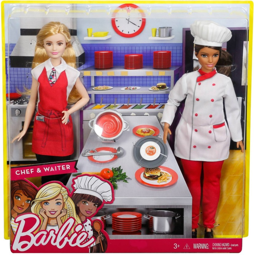 Barbie I Can Be Restaurant Clothing Fashion Pack ~ Chef /& Waitress Doll Outfits