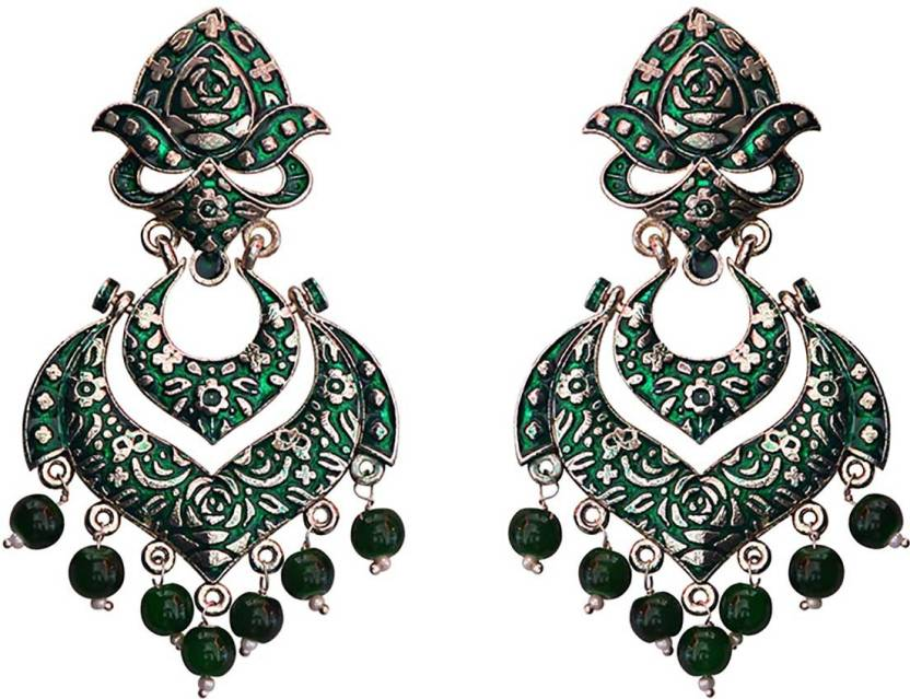 8eeb590986f53 Flipkart.com - Buy MK Jewellers Meenakari german silver plated ...