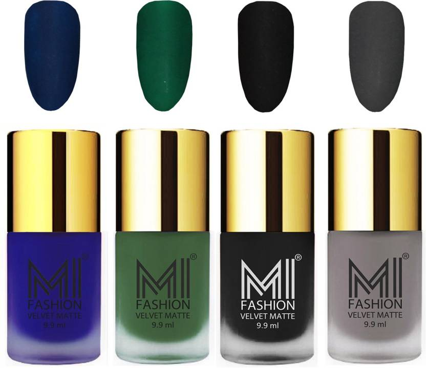 MI Fashion Premium Quality Dull Velvet Matte Nail Polish Duo Pont ...