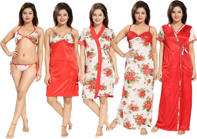 fd4d19e4cc Fabme Women Nighty Set - Buy Fabme Women Nighty Set Online at Best ...