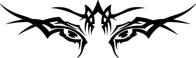Wall Design Bike Racing Stickers Tiger Eye