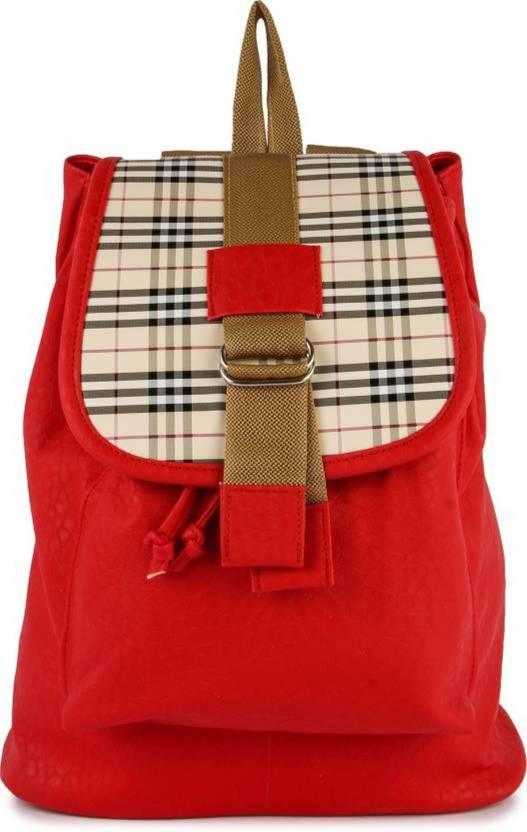 6a28c417924289 MK PURSE BACKPACK BAG 10 L Backpack RED - Price in India | Flipkart.com