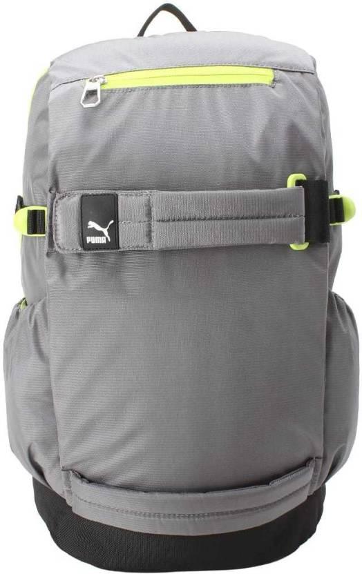 Puma Evo Blaze Street Backpack 20 L Backpack Steel Gray-Acid Lime ... ada888a3817be