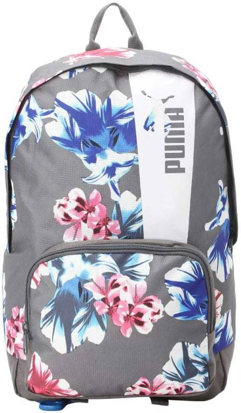 f8dd32f976a63 Puma Core Style Backpack IND 21 L Backpack (Multicolor). Price  Not  Available. Currently Unavailable. Color. Steel Gray- White-flower graphic