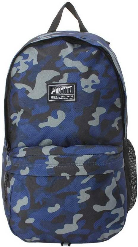 beb2d51a18 Puma Academy Backpack IND 22 L Backpack Blue Depths-Camo AOP - Price ...