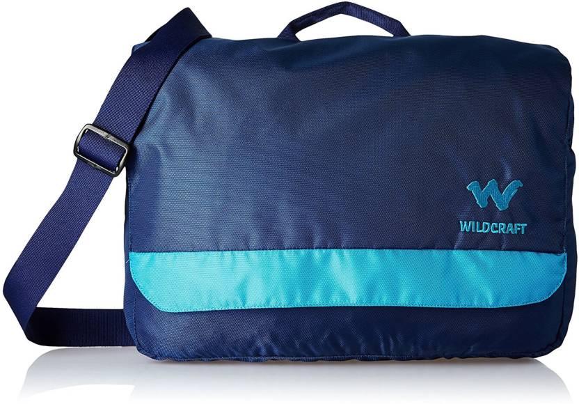 b5c5aea15 Buy Wiki by Wildcraft Messenger Bag Blue Online   Best Price in ...