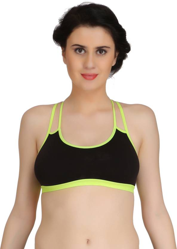 55ee6d694c8 Fashion Comfortz by Fashion Comfortz Women s Sports Non Padded Bra (Black)