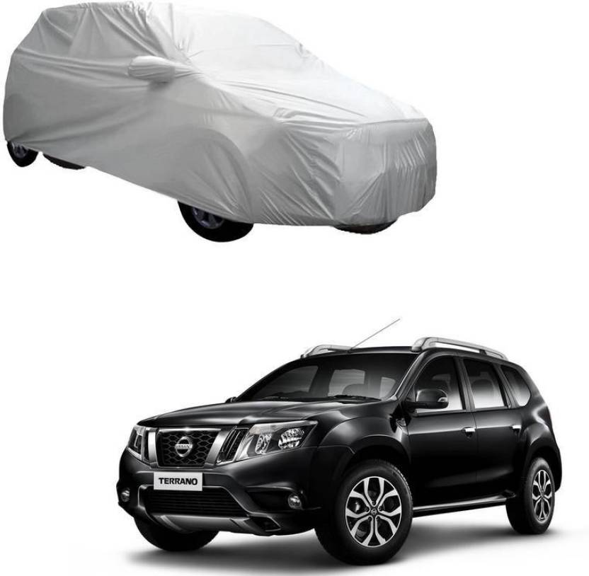 AdroitZ Car Cover For Nissan Terrano (With Mirror Pockets) Price in
