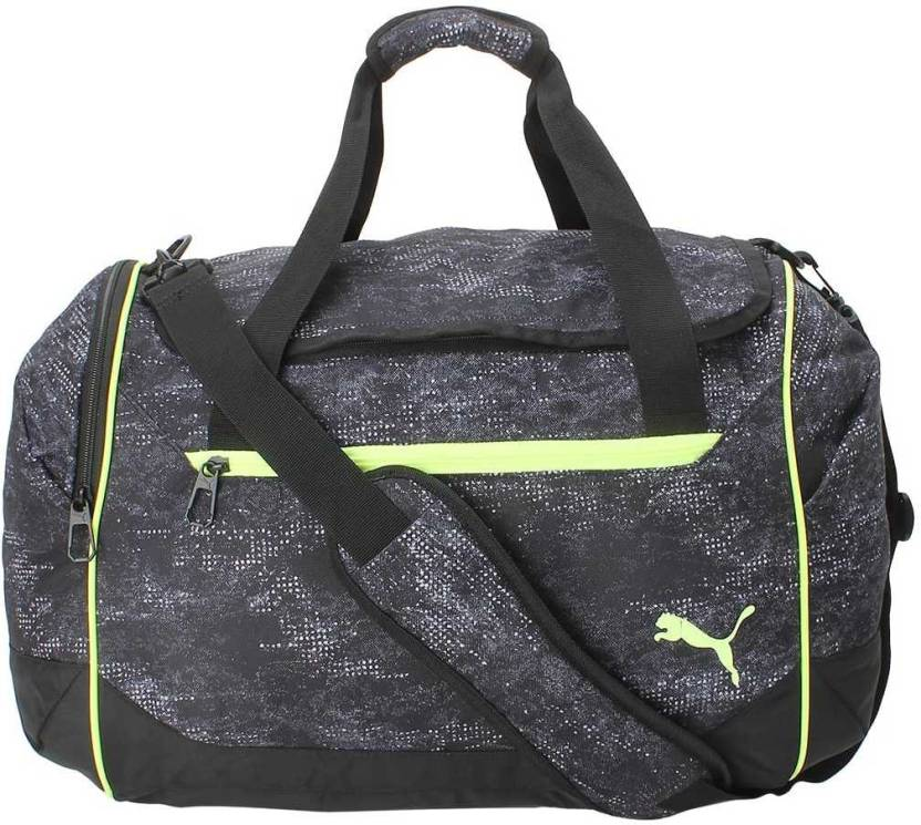 Puma Training Duffle Bag M (50l) Travel Duffel Bag Black-Fizzy ... b77953f3c4b1d