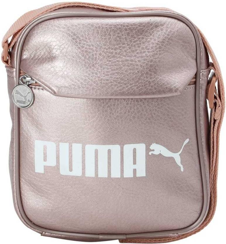 3b48e574c8c2 Buy Puma Sling Bag Peach Beige-metallic Online   Best Price in India ...