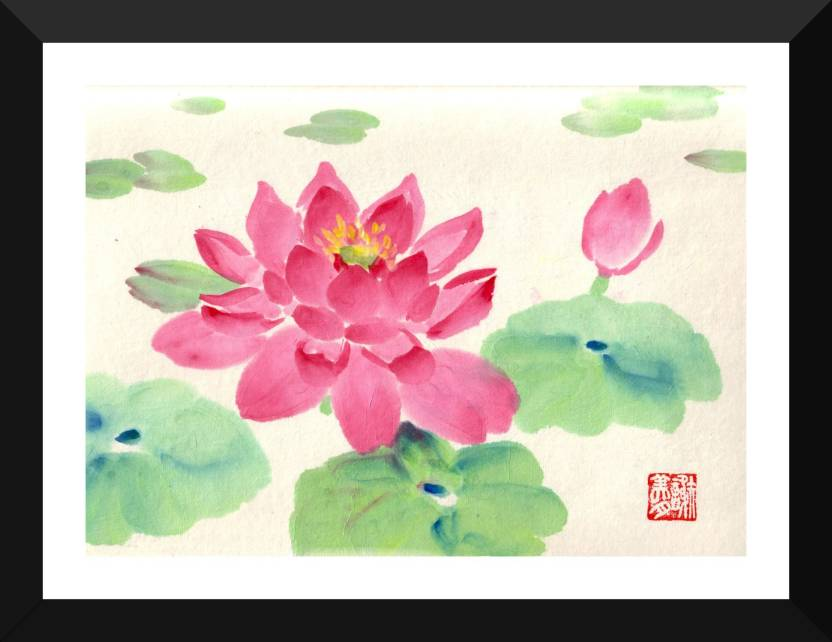 Tallenge Delicate Water Color Water Lotus By Sam Mitchell Lotus