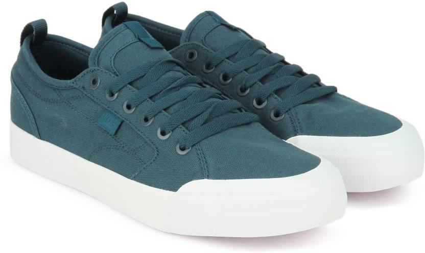 4f046007f2cf5d DC EVAN SMITH TX Canvas Shoes For Men - Buy TEAL Color DC EVAN SMITH ...