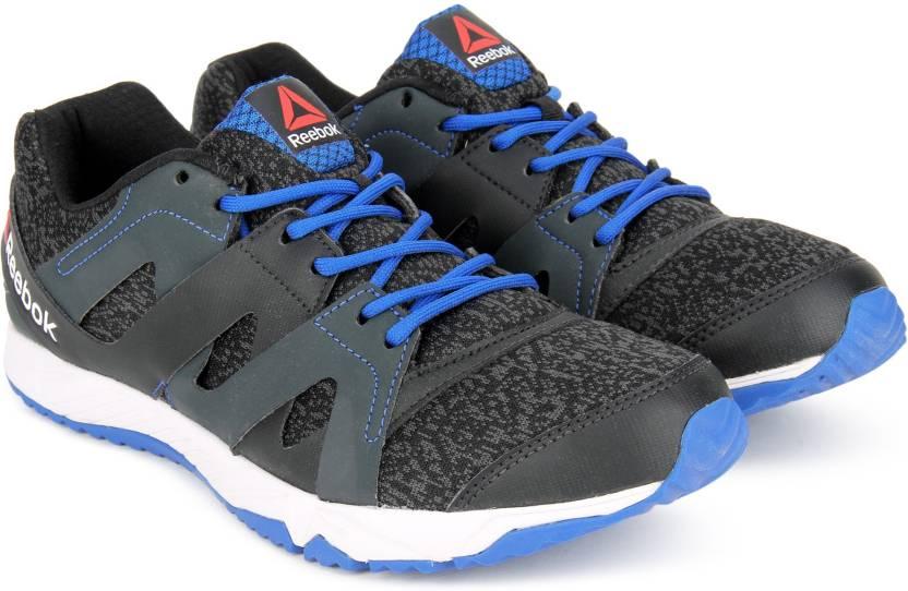 REEBOK RUN ESSENCE Running Shoes For Men - Buy BLACK GRAVEL BLUE ... b565290e1