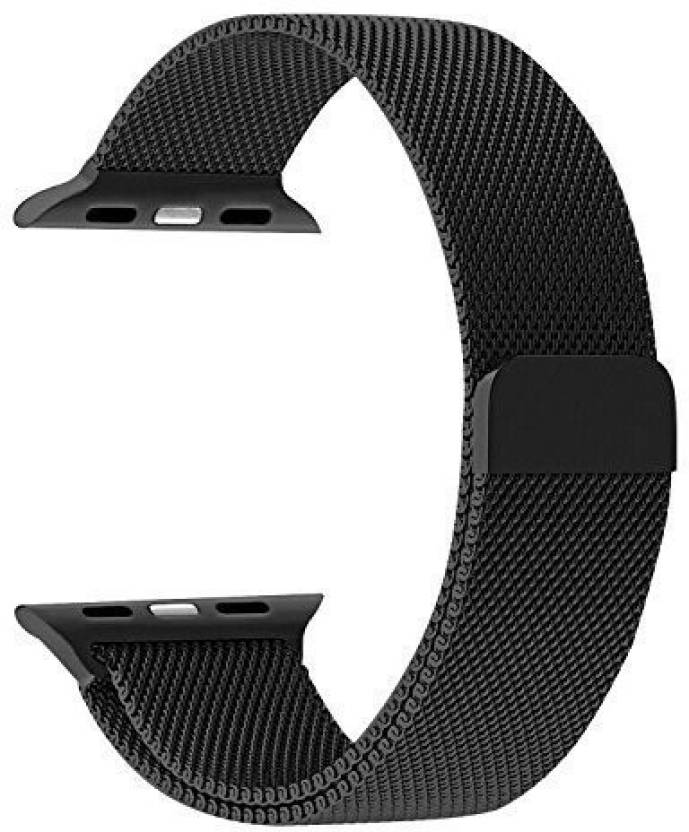 322a5830d904c Memore Milanese Magnetic Replacement loop for Apple Watch Series 1 / Series  2 / Series 3 & Edition 42mm Black Smart Watch Strap (Black)
