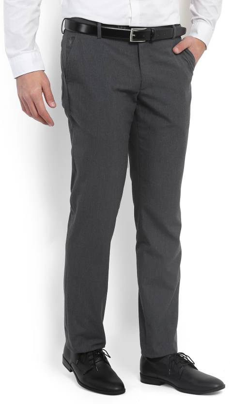 06469b252 Black Coffee Regular Fit Men s Grey Trousers - Buy GREY Black Coffee  Regular Fit Men s Grey Trousers Online at Best Prices in India