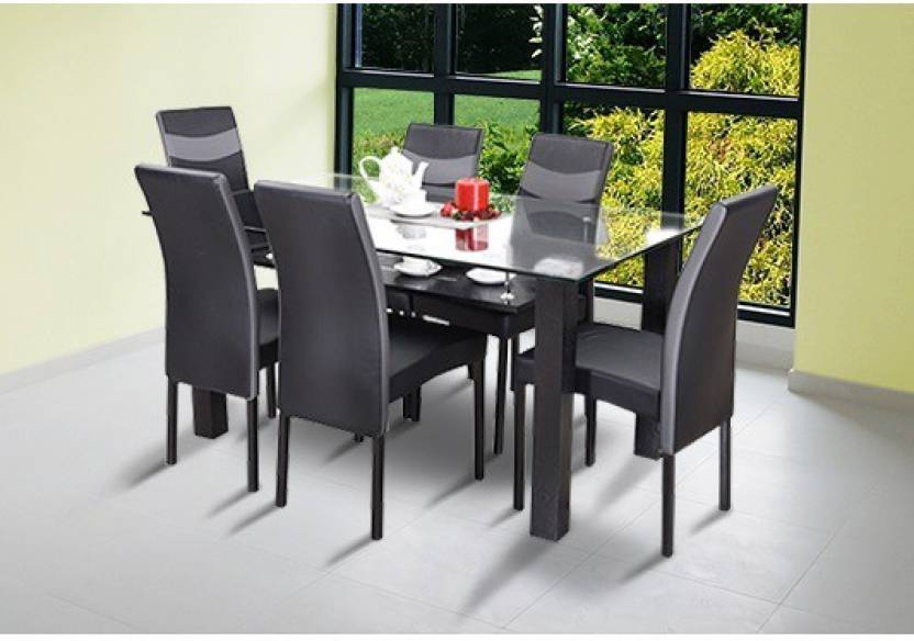 7a0a08b295 RoyalOak Aqua Leatherette 6 Seater Dining Set Price in India - Buy ...