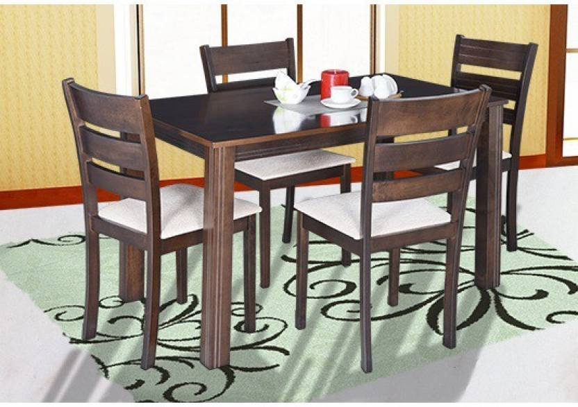 Royaloak Berlin Solid Wood 4 Seater Dining Set Price In India Buy