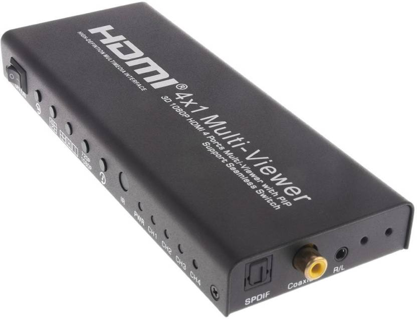 Microware Quad Multi-Viewer 4x1 HDMI Switcher 4 Ports with