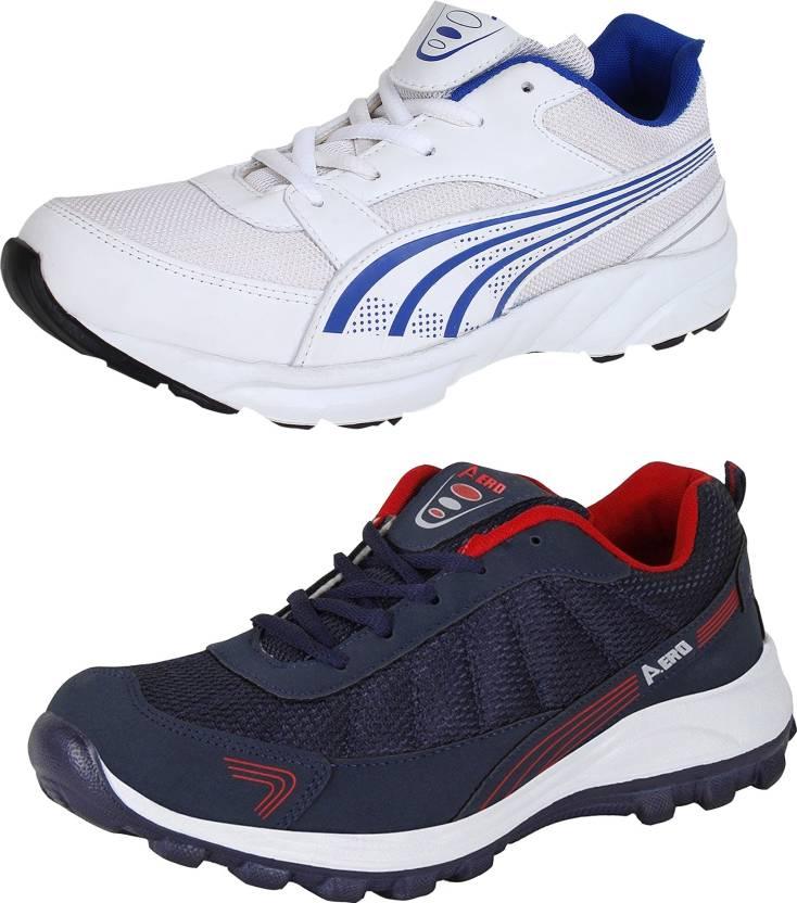 9d736744e8c Aero 02 Pair Combo Power Play Running Shoes For Men (Blue