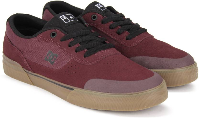 Dc Switch Plus S Sneakers For Men Buy Maroon Color Dc Switch Plus
