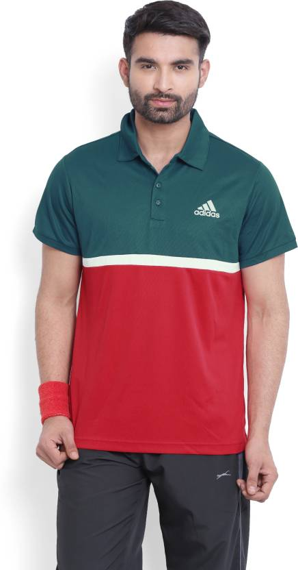 998ce87d ADIDAS Solid Men's Polo Neck Blue, Pink T-Shirt - Buy Blue ADIDAS Solid  Men's Polo Neck Blue, Pink T-Shirt Online at Best Prices in India |  Flipkart.com