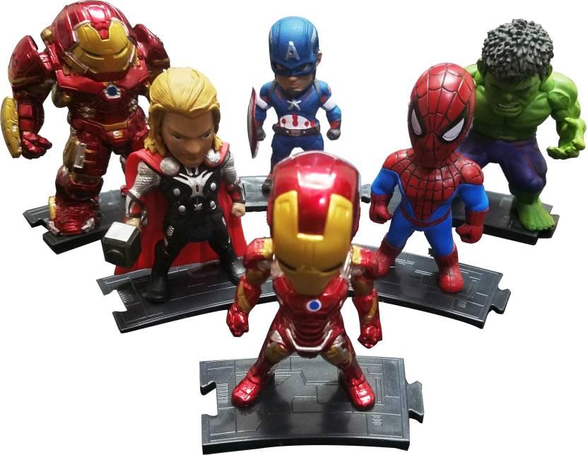 Toy Mela DC Comics Marvel Avengers Superheroes Toys 6pcs set Kids Nation  Figures Captain America 996534505