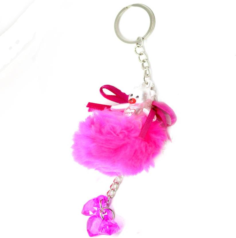 e4f8e587ac Faynci Love Pink Cute Doll Key Chain with Pink Twin Heart Shape for Fashion Key  Chain Price in India - Buy Faynci Love Pink Cute Doll Key Chain with Pink  ...